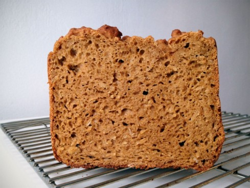 Real picture of gluten-free whole-grain bread...seriously.